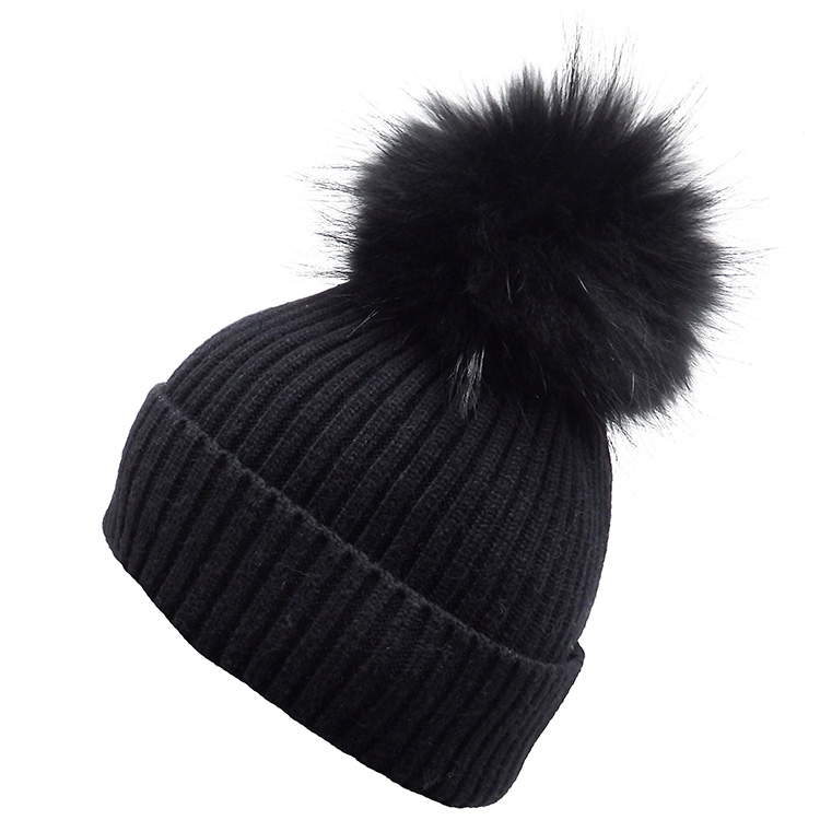Real Fur Pompom Premium Hat (MORE COLOURS AVAILABLE)
