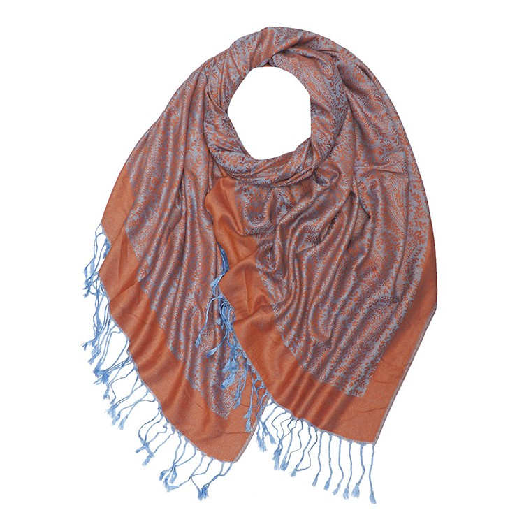 Thin Paisley Print Reversible Pashmina (MORE COLOURS AVAILABLE)