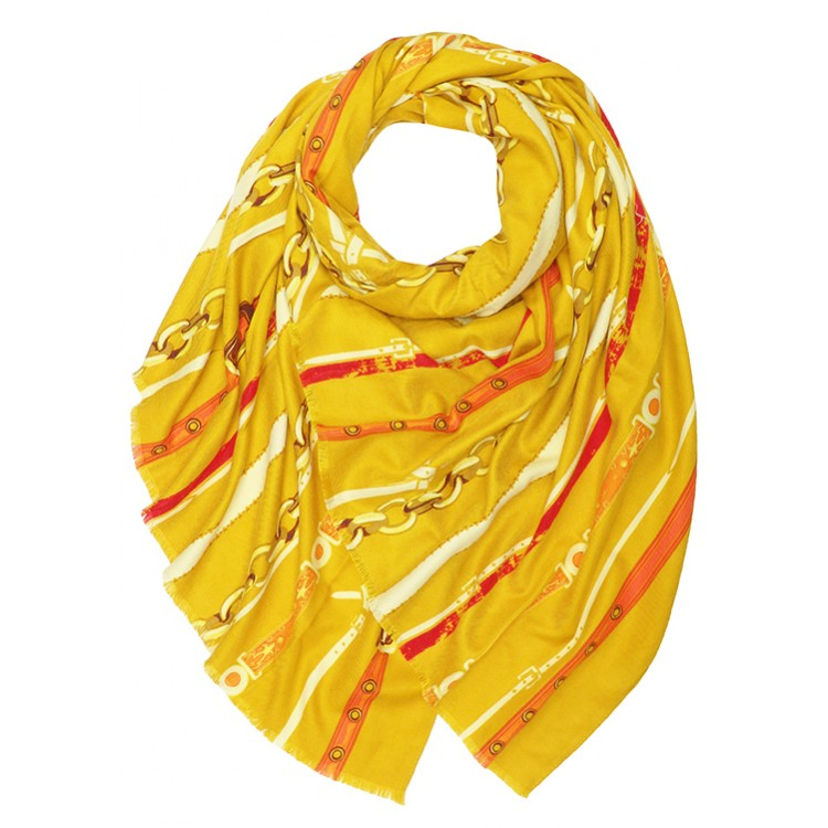 Chains & Belts Print Large Soft Scarf (MORE COLOURS AVAILABLE)