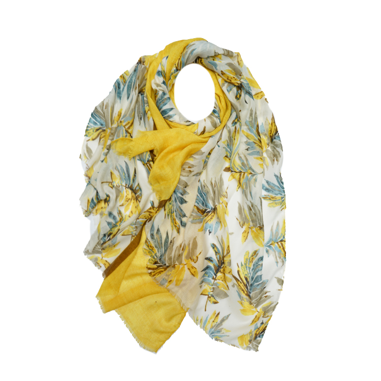 Curry Leaves Print Large Scarf (MORE COLOURS AVAILABLE)
