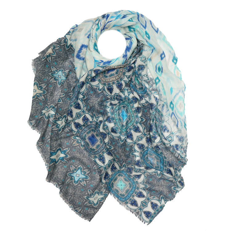 Aztec Print Large Scarf  (MORE COLOURS AVAILABLE)