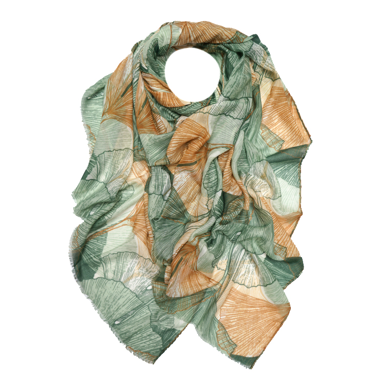 Lotus Leaf Print Large Scarf (MORE COLOURS AVAILABLE)