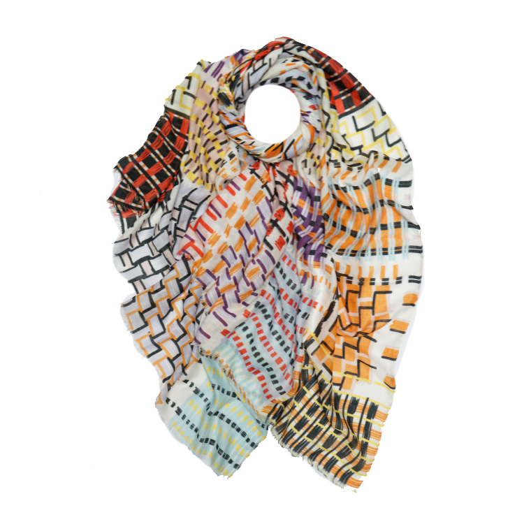 Basket Weave Print Large Scarf (MORE COLOURS AVAILABLE)