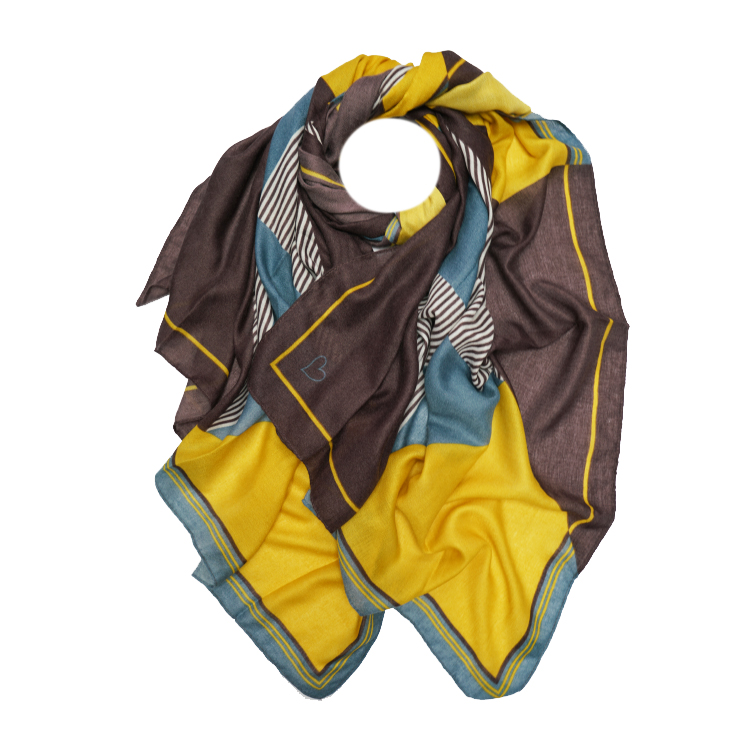 Geometric Heart Print Large Scarf (MORE COLOURS AVAILABLE)