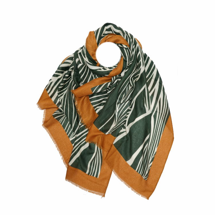 Palms Print Large Scarf  (MORE COLOURS AVAILABLE)