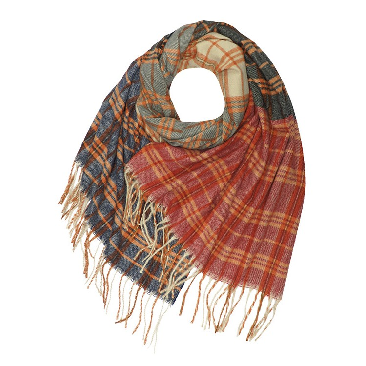 Vintage Check Wool Mix Winter Scarf (MORE COLOURS AVAILABLE)