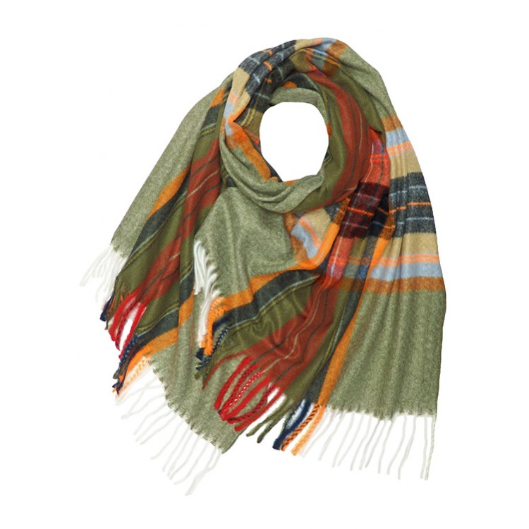 Neon Check Wool Mix Winter Scarf (MORE COLOURS AVAILABLE)