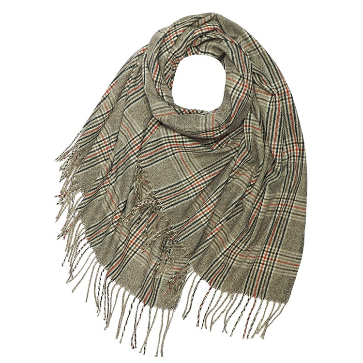 Prince Wales Check Wool Mix Winter Scarf (MORE COLOURS AVAILABLE)